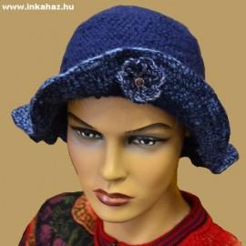 Kézzel horgolt kalap alpaka gyapjúból 3 modell