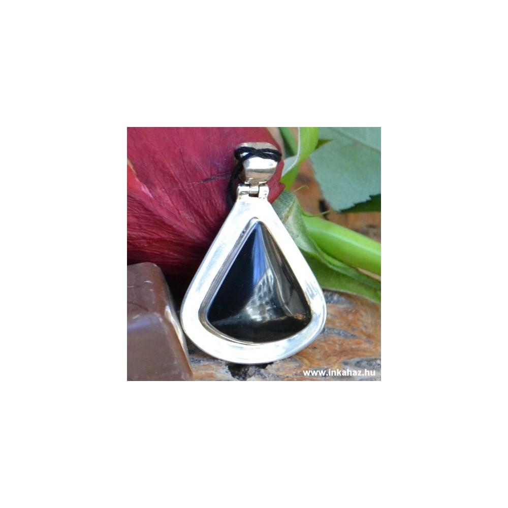 Ezüst medál Ónix kővel