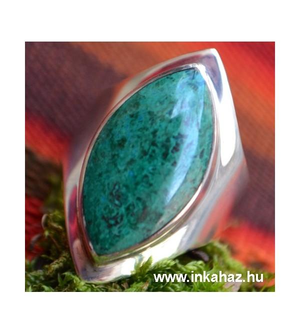 Kokalevél formájú ezüst gyűrű