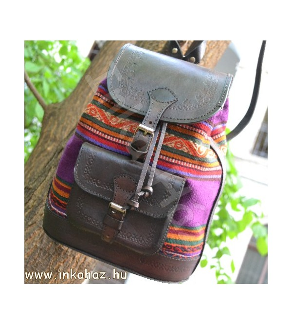 Leather backpack BH02